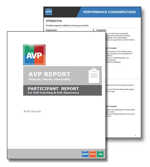 AVP Participant Report Image