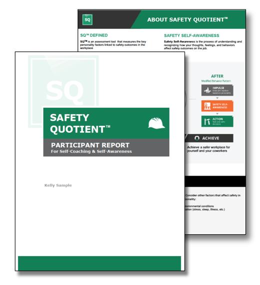 Safety Quotient Participant Report Image