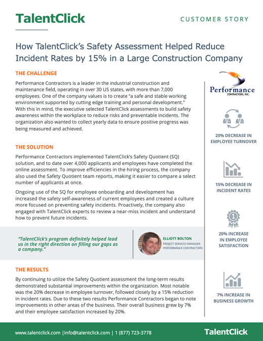 reduce incident rate customer story
